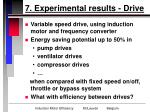 7 experimental results drive