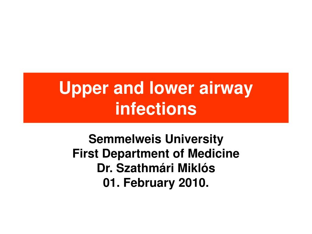 upper and lower airway infections l.