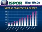 meeting registration europe