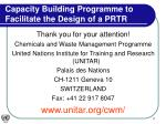 capacity building programme to facilitate the design of a prtr