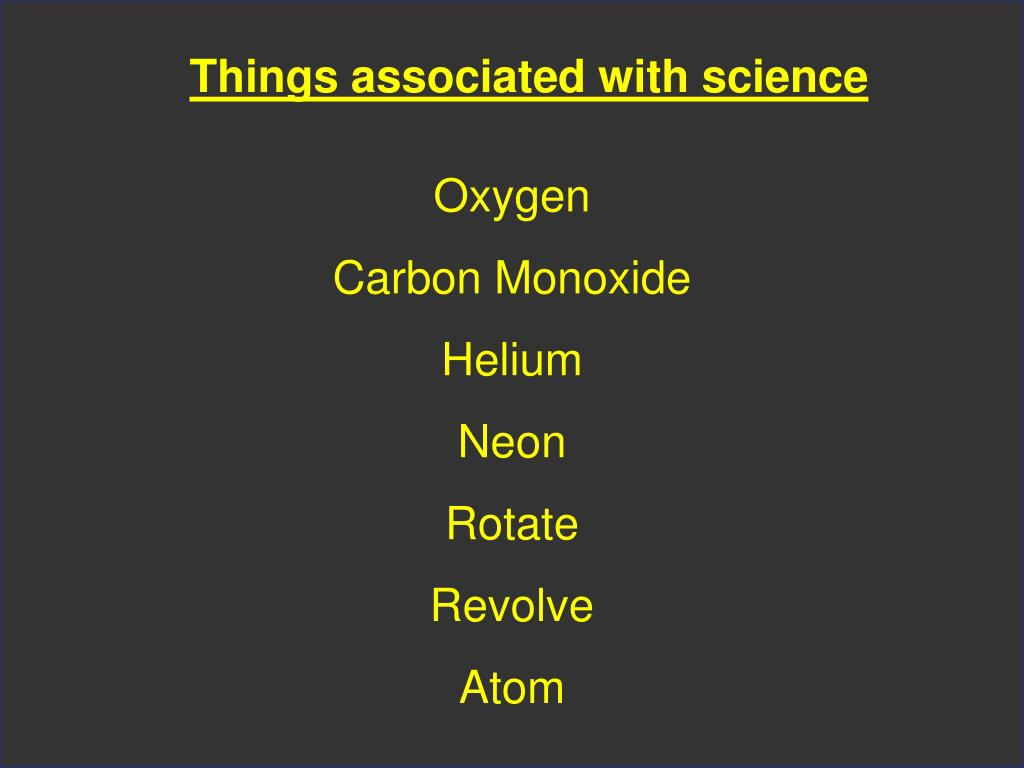 Things associated with science