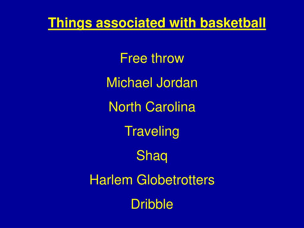 Things associated with basketball