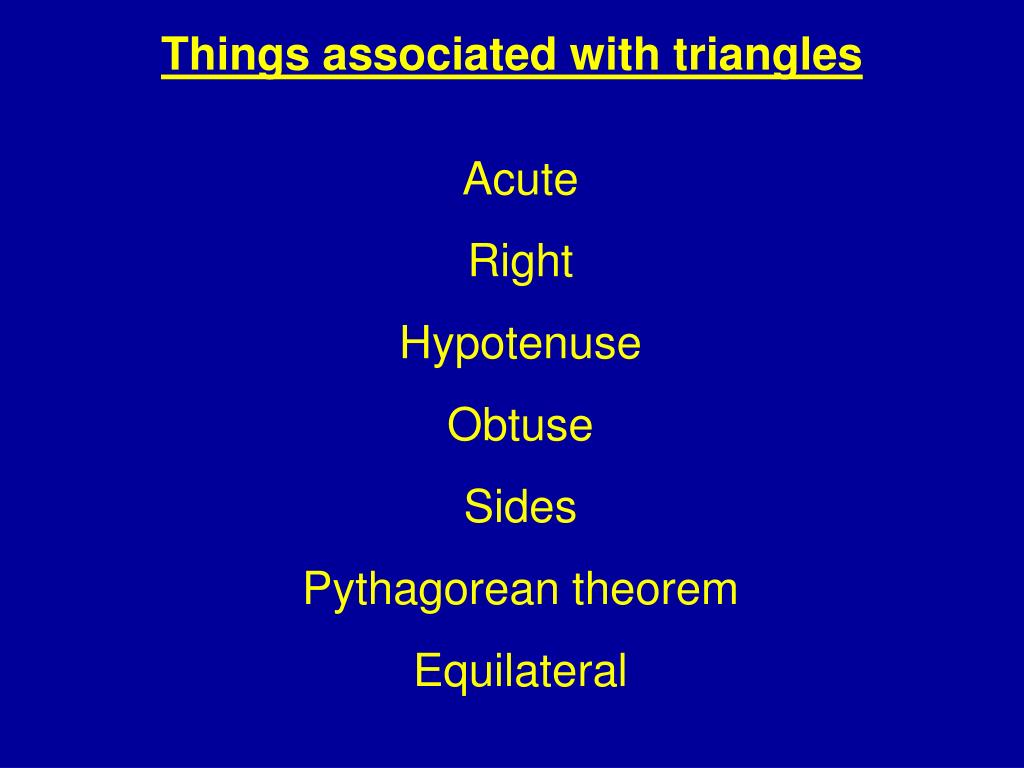 Things associated with triangles