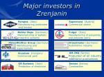 major investors in zrenjanin