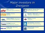 major investors in zrenjanin16