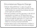 circumstances require change