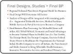 final designs studies final bp
