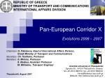 pan european corridor x evolutions 2006 2007