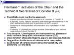 permanent activities of the chair and the technical secretariat of corridor x 1 2