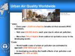 urban air quality worldwide
