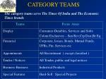 category teams