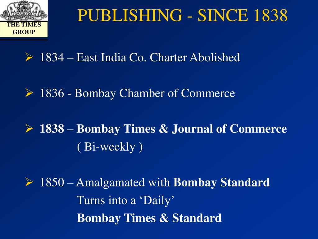PUBLISHING - SINCE 1838