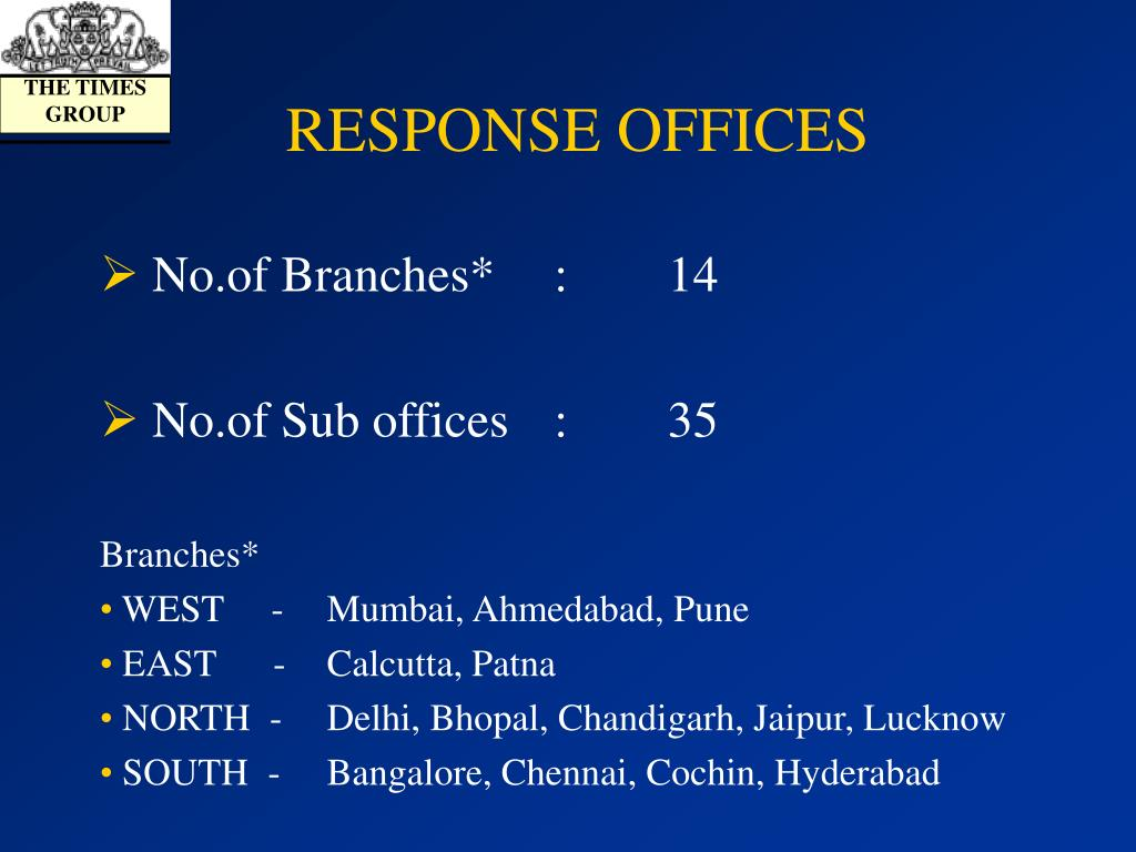 RESPONSE OFFICES