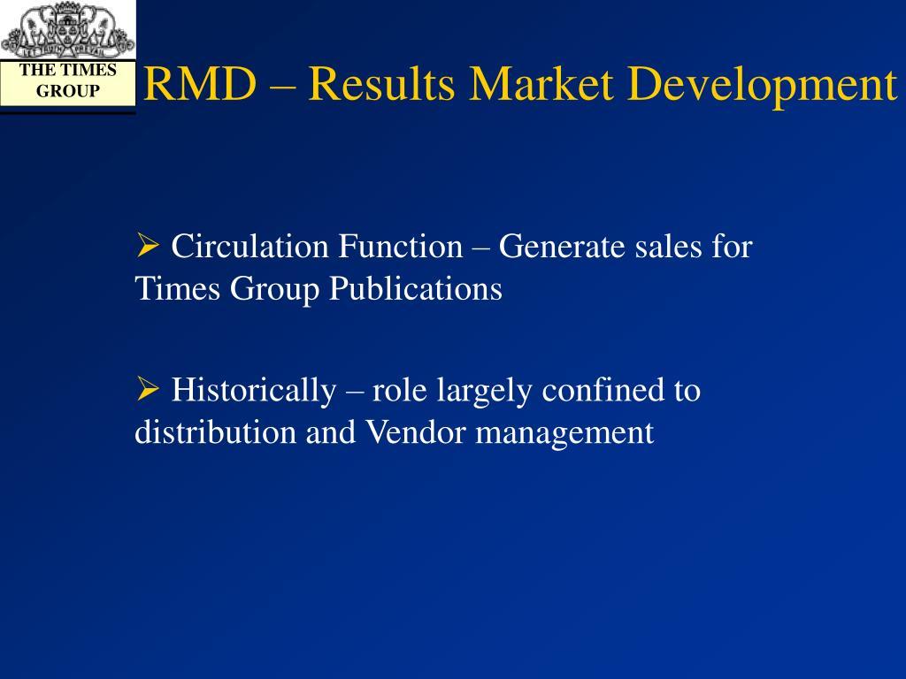 RMD – Results Market Development