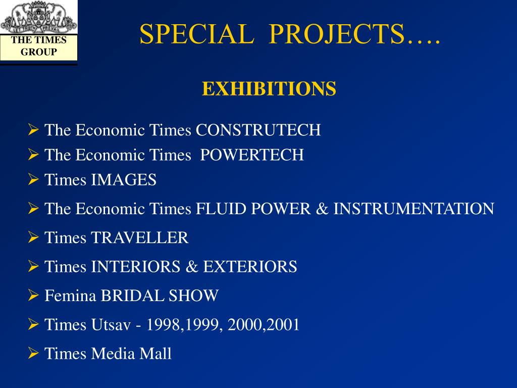 SPECIAL  PROJECTS….