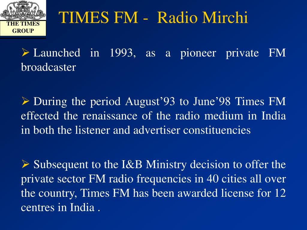 TIMES FM -  Radio Mirchi