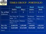 times group portfolio