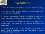 times retail