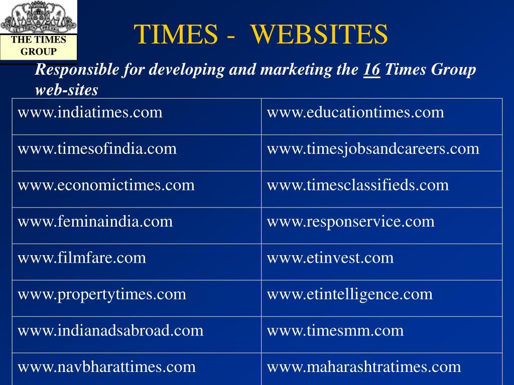 TIMES -  WEBSITES
