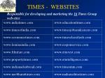 times websites