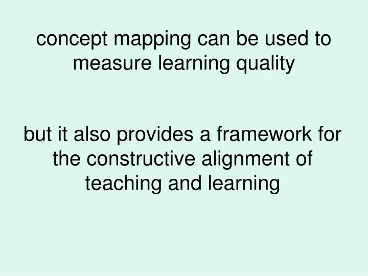 concept mapping can be used to measure learning quality