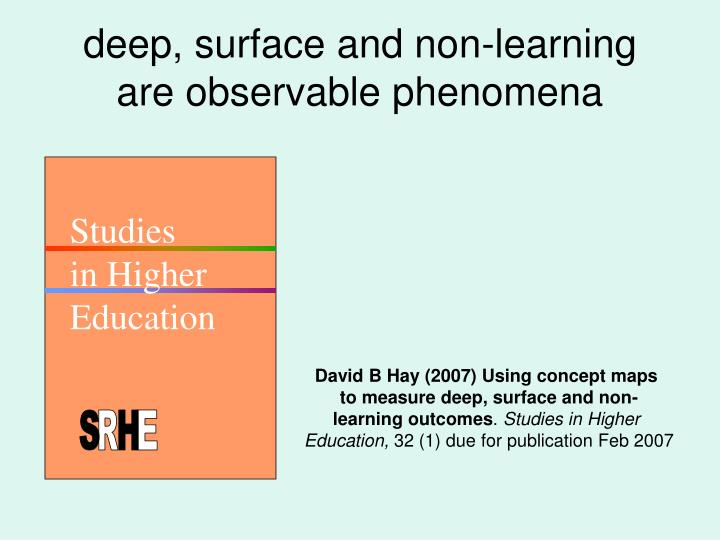 deep, surface and non-learning