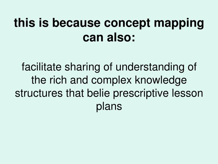 this is because concept mapping can also: