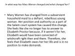 in what way has mary warren changed and what changed her