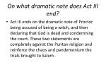 on what dramatic note does act iii end