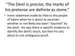 the devil is precise the marks of his pretense are definite as stone