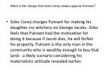 what is the charge that giles corey makes against putnam