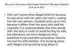 why can t john prove what abigail told him why does elizabeth pick up on this