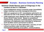 example business continuity planning