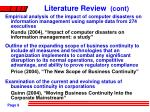 literature review cont