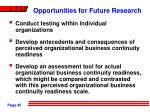 opportunities for future research