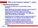 why is the research relevant cont15