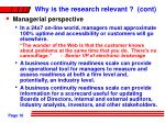why is the research relevant cont16