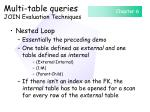 multi table queries join evaluation techniques66