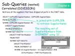 sub queries nested correlated division117