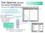sub queries nested correlated division136