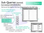sub queries nested correlated division139