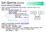 sub queries nested uncorrelated 3 tables92
