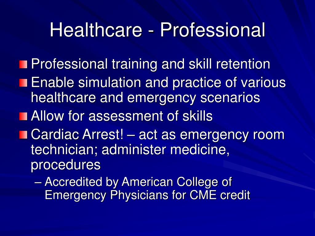 Healthcare - Professional