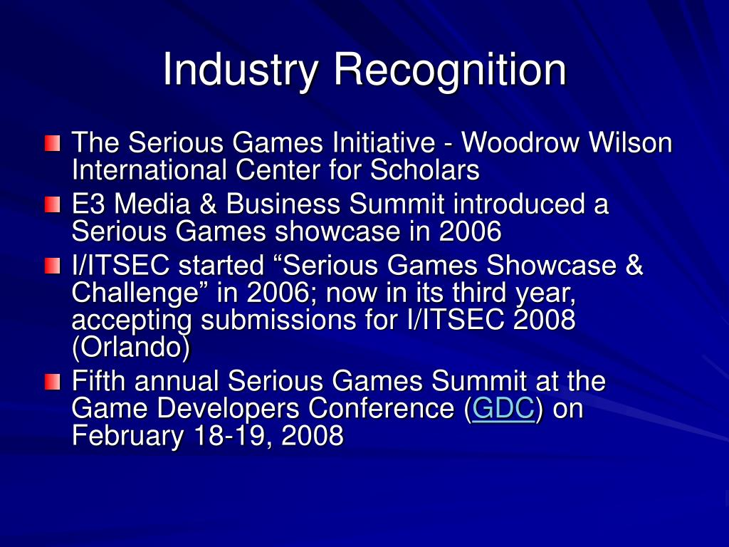 Industry Recognition