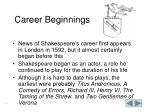 career beginnings