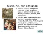 music art and literature