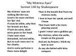 my mistress eyes sonnet 130 by shakespeare