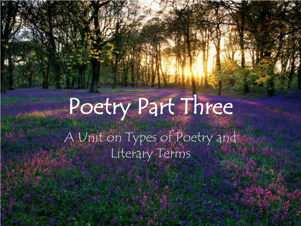 poetry part three l.