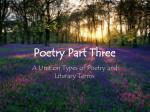 poetry part three