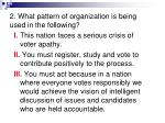 2 what pattern of organization is being used in the following